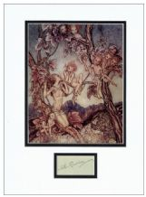 Arthur Rackham Autograph Signed Display